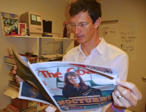 The Coast's editor Kyle Shaw is a long-time graphics promoter in journalism. (Photo: Katrina Pyne)